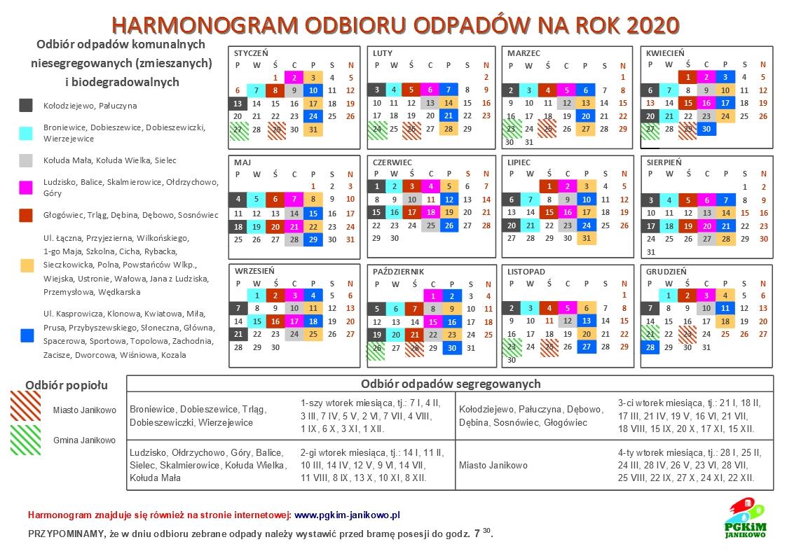 Harmonogram odbioru odpadów na rok 2020 [1123x794]