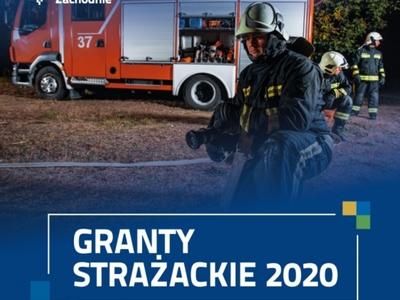 granty strażackie - plakat