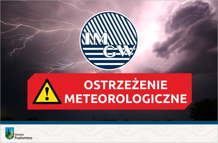 ostrzeżenie - burza