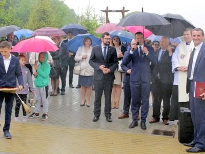 Otwarcie drogi w Wilkowicach