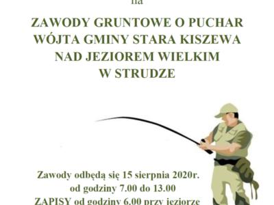 Zawody Gruntowe o Puchar Wójta Gminy Stara kiszewa nad Jeziorem Wielkim w Strudze