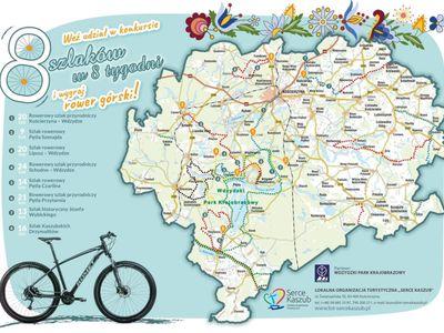 """Konkurs dla rowerzystów """"8 szlaków w 8 tygodni"""""""