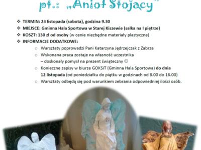"""Warsztaty Utwardzania Tekstylnego pt.: """"Anioł Stojący"""""""