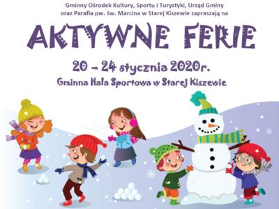 Aktywne Ferie 20-24 styczneń 2020r.