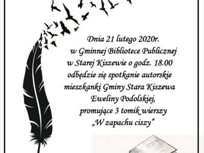 """Wieczór z Poezją - Ewelina Podolska """"W zapachu ciszy"""""""