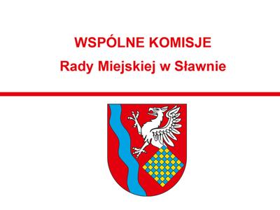 Grafika - Zawiadomienie o komisji Sesji Rady Miejskiej w Sławnie