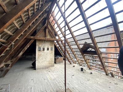 Remont dachu Sławieńskiego Domu Kultury - poddasze