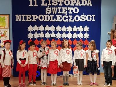 Święto Niepodległości w Przedszkolu nr 3 w Sławnie