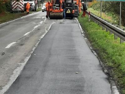 nawierzchnia odcinka drogi nr 449 Brzeziny-Piegoniko-Pustkowie