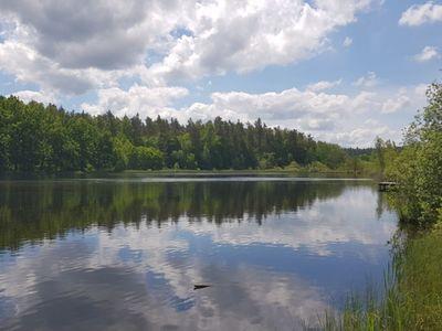 Widok na Jezioro w Pękaninie.