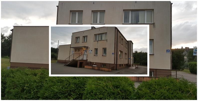 Zdjęcie przedstawia budynek Zakładu Opieki Zdrowotnej w Malechowie.