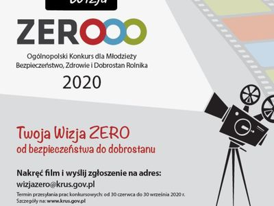 Zdjęcie przedstawia plakat informujący o konkursie dla młodzieży Moja Wiza Zero.
