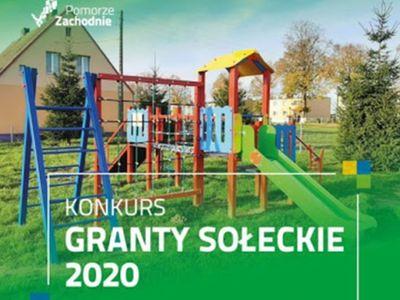 Zdjęcie przedstawia plakat informujący o konkursie Granty Sołeckie 2020.