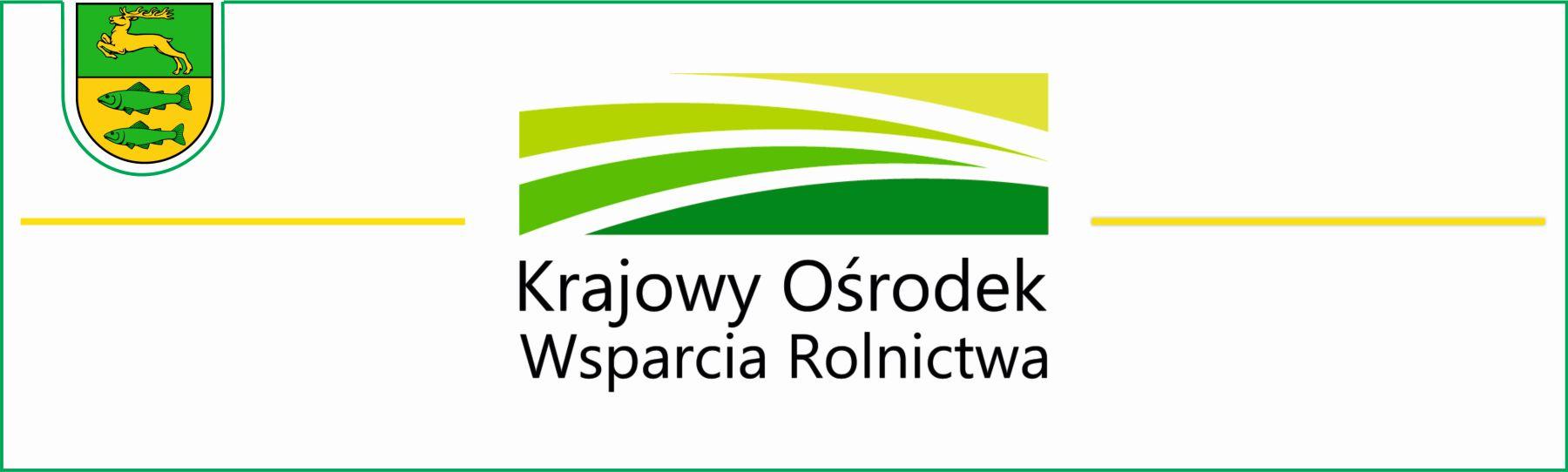 Zdjęcie przedstawia logo Krajowego Ośrodka Wsparcia Rolnictwa w kolorach biało - żółto - zielonym.