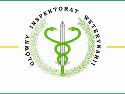 Grafika przedstawia logo Głównego Inspektoratu Weterynaryjnego w barwach zielono - szarych.