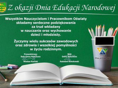 Grafika dekoracyjna z okazji Dnia Edukacji Narodowej.