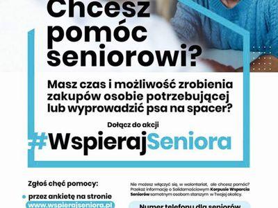 Plakat informacyjny #WspierajSeniora