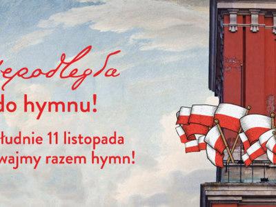 Grafika dekoracyjna Niepodległa do hymnu.
