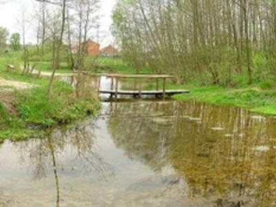 Panorama źródlisk (w tym między innymi rzekę Tuczyn i mostek nad nią)