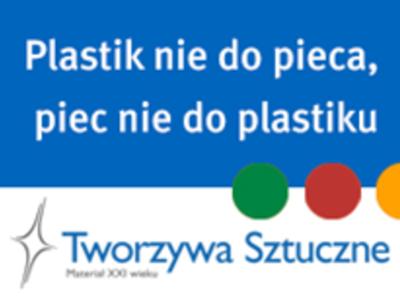 Tabliczka hasłem Plastik nie do pieca piec nie do plastiku [400x300]