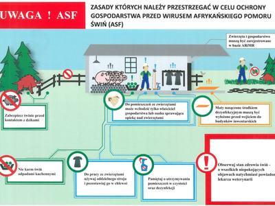 Zasady, których należy przestrzegać w celu ochrony gospodarstwa przed wirusem afrykańskiego pomoru świń(ASF)