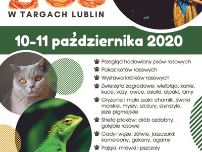 Plakat zapraszający na weekendowe ZOO w Targach Lublin