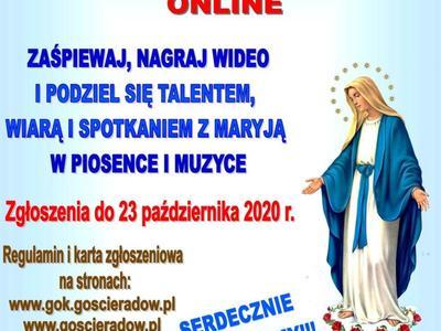 Plakat - XIV MIĘDZYDIECEZJALNY PRZEGLĄD PIEŚNI MARYJNEJ
