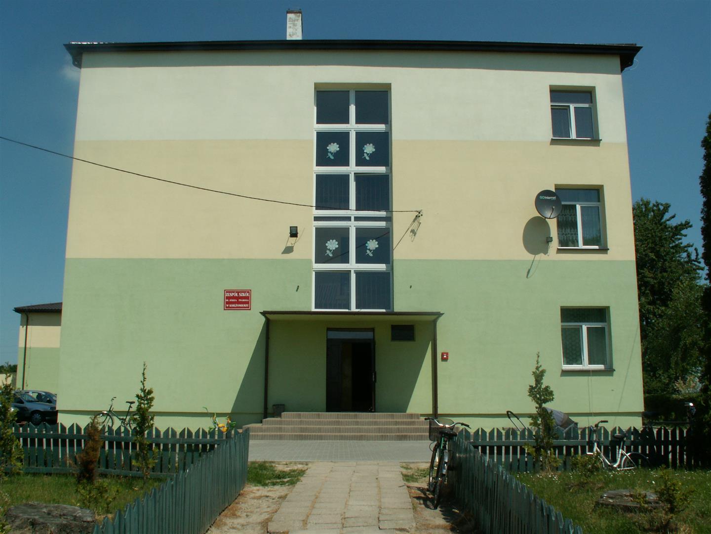 Zdjęcie przedstawiające budynek Zespołu Szkół w Księżomierzy
