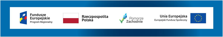 Logotypy Fundusze Europejskie Rzeczpospolita Polska Pomorze Zachodnie Unia Europejska