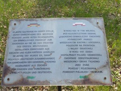 Pomnik w Kikowie - tablica pamiątkowa