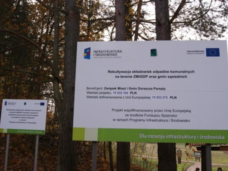 Warnino - ścieżka edukacyjna zrobiona na terenie byłego wysypiska śmieci