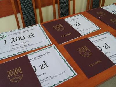 Dyplomy i czeki dla Sołtysów