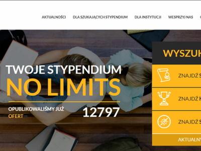 Strona internetowa mojestypendium.pl