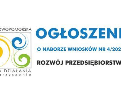 Ogłoszenie o naborze wniosków 4/2020 na rozwój przedsiębiorstw