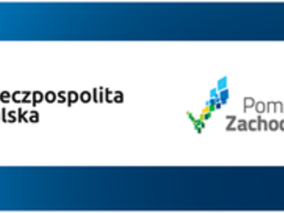 Logotypy: Fundusze Europejskie, Rzeczpospolita Polska, Pomorze Zachodnie, Unia Europejska