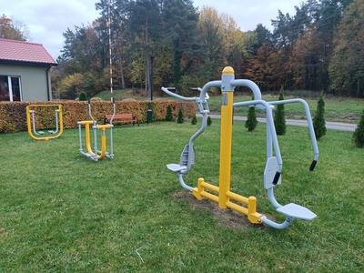 Na zdjęciu siłownia zewnętrzna w Osówku